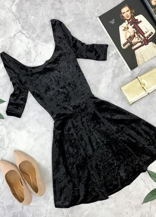 Стильное бархатное платье с отрезной талией   dr1826043  new look