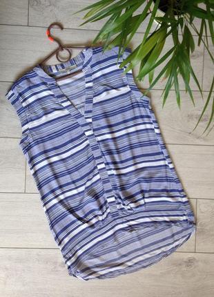 Блуза из вискозы в полоску размер 14