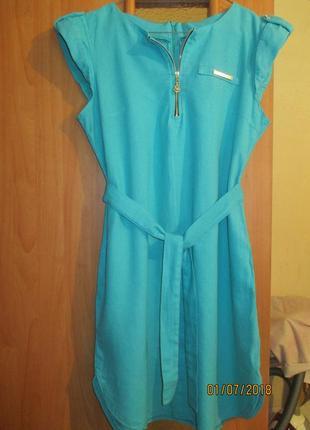 Платье из льна, то, что нужно на лето!