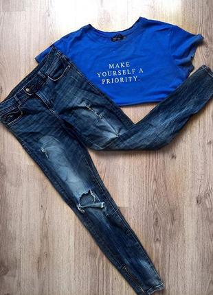 Круті рвані джинси zara