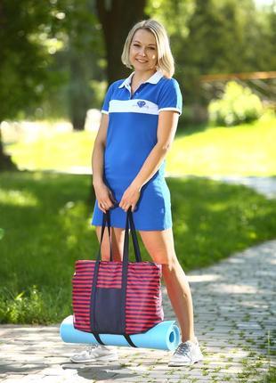 Удобная спортивная текстильная сумка