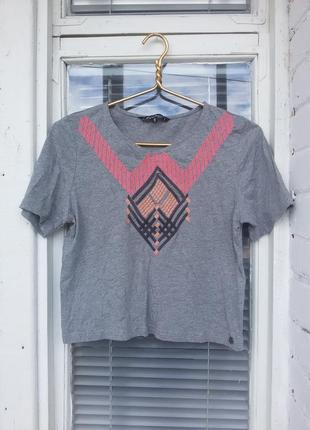 Сіра футболка firetrap!