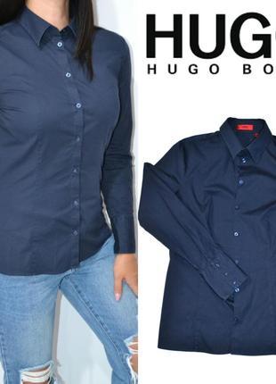 Рубашка синяя hugo boss.оригинал.