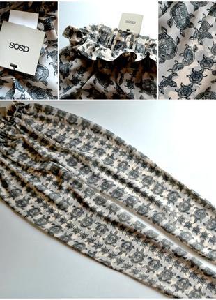 Новые пляжные брюки свободного кроя с принтом asos