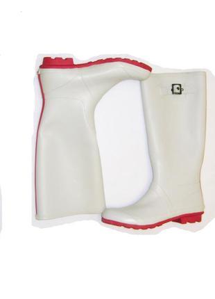 Резиновые длинные сапоги р 39 белые