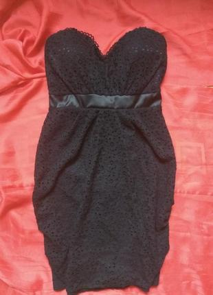 Ажурное платье силуэт bik bok