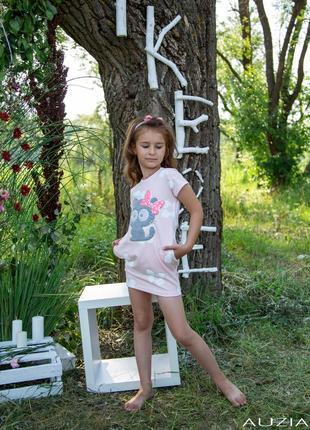 Платье  нежно розового цвета с котиками like me