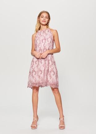 Платье коктейльное с бисером