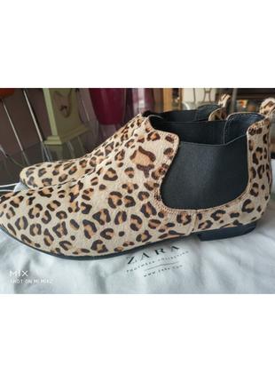 Челси ботинки из меха пони