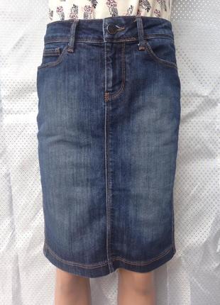 Базовая джинсовая юбка миди