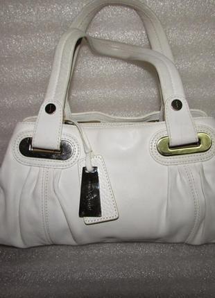 Белая сумка 100% натуральная кожа ~jasper conran~