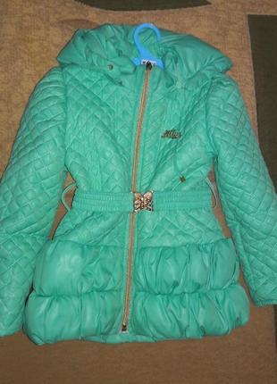 Осенняя куртка (пальто) mira на 3-5лет