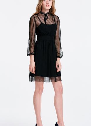Кружевное черное платье musthave3 фото