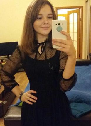 Кружевное черное платье musthave4 фото
