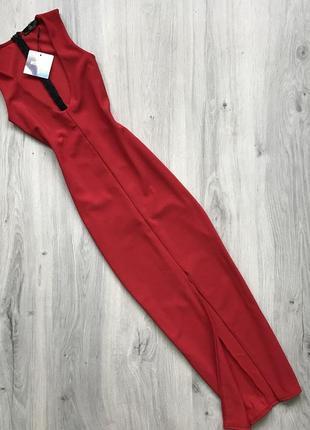 Платье  в рубчик миди missguided