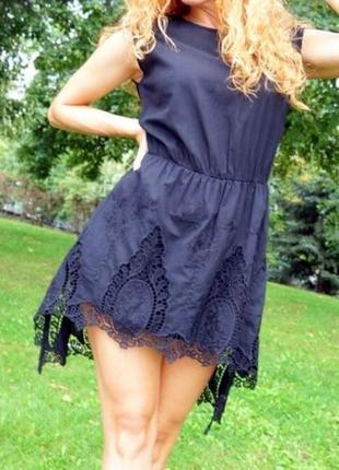 Летнее черное платье silvian heach