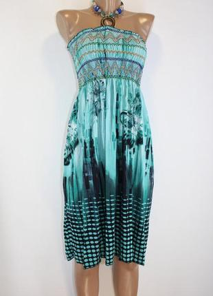 Женское пляжное платье сарафан миди