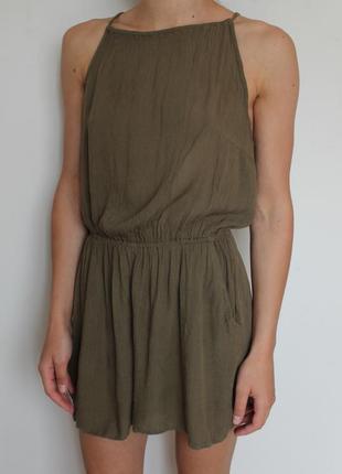 H&m комбинезон с шортами хаки с открытой спиной