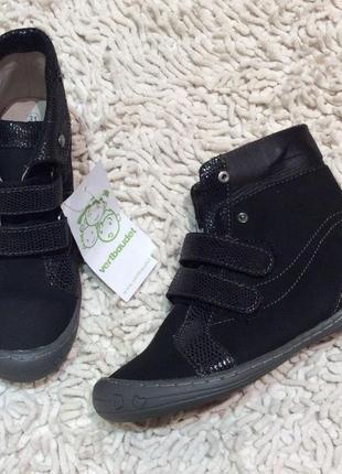 Кожаные ботиночки для девочки р 31 vertbaudet франция