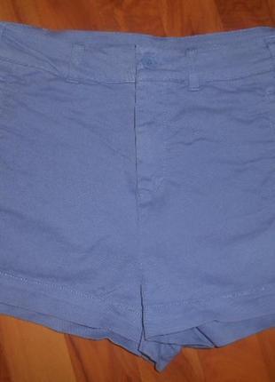 Короткие шорты с высокой талией topshop с карманами