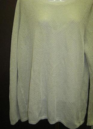 Ажурный свитерок с люрексом