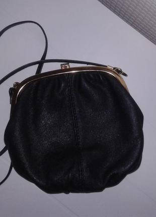 Salisburys кожаная сумка чёрного цвета