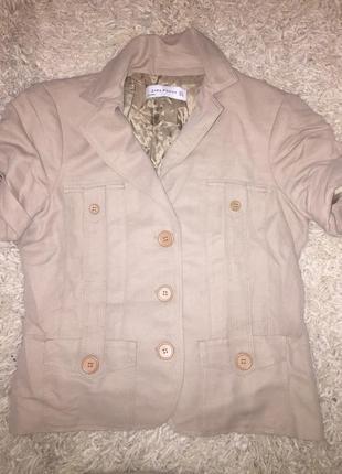 Бежевый костюм zara пиджак юбка