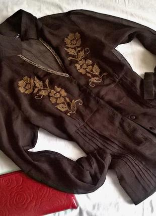 Очень красивая блуза-вышиванка  на шифоне