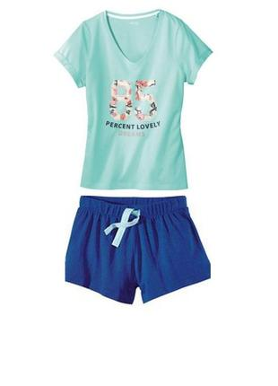 Летний комплект пижама домашний костюм esmara германия, футболка шорты
