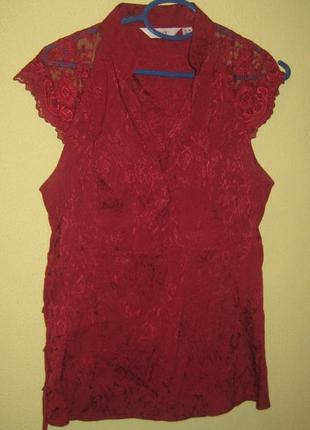 Шикарная блузка с кружевом от next)распродажа!!! смотрите другие мои вещи)