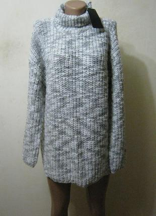Zara зимний свитер (крупная вязка) новый арт.520