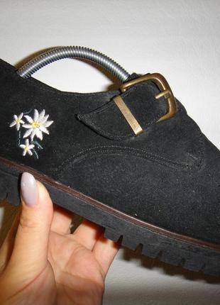 Новые, супер удобные замшевые женские туфли ботинки donna christina р. 38 (24см) новое