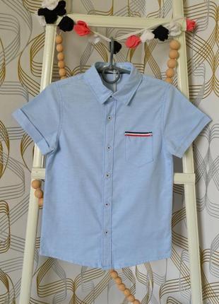 Рубашка с коротким рукавом на мальчика 14-16 лет1 фото