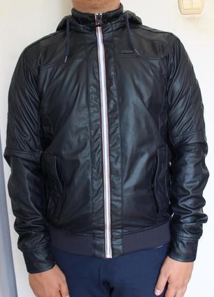 Pull&bear мужская куртка кожаная ветровка