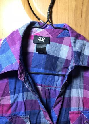 Рубашка длинная ктетка h&m