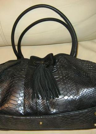 Итальянская брендовая , кожаная сумка ripani, оригинал