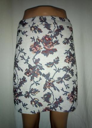 Юбка имитация вышивки,плюс  подарок к покупке