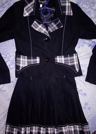 Школьная форма /пиджак+сарафан+блузка+носочки+гетры