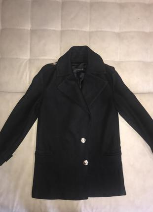 Черное пальто  zara.1+1=3