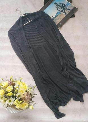 Темно-серый длинный кардиган от h&m