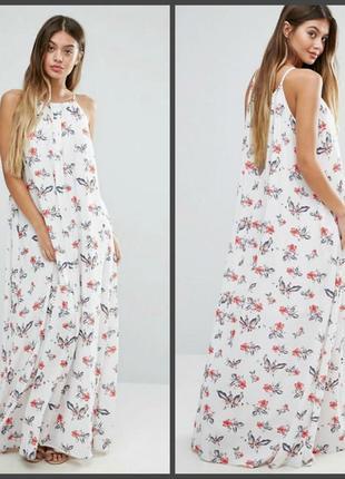 👏обновы👏 платье,сарафан в цветочный принт с карманами ,как новое l и больше (см.замеры)