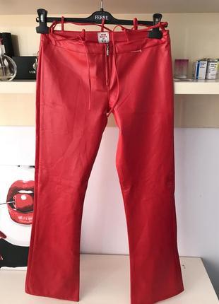 Кожаные брюки miss sixty оригинал