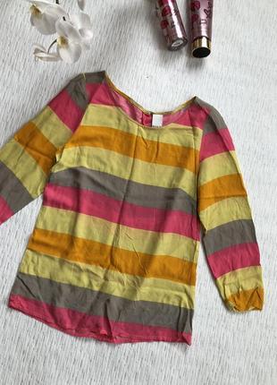 Vila яркая блуза качество- вискоза . воздушная