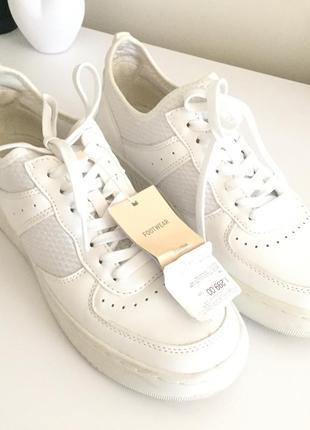Белые кроссовки новые кеды