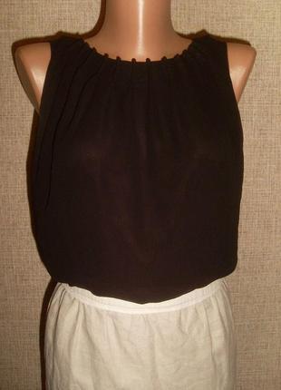 Шикарное комбинированное платье,лён,шифон