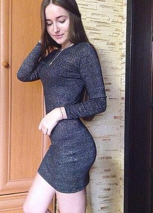 Новое блестящее короткое супер платье sinsay xs