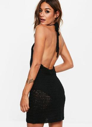 Вязаное платье открытые плечи и спина missguided