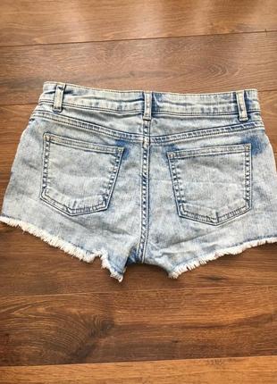 Распродажа!!! 3 вещи по цене 2. скидка!!!джинсовые шорти голубые topshop