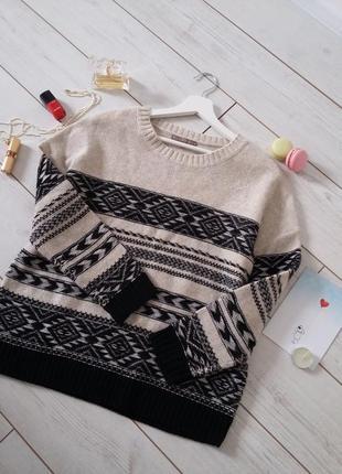 Mini &berry вязаный свитер оверсайз в составе шерсть