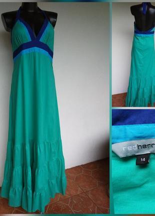 Фирменное стильное натуральное котоновое пляжное платье в рюшу. debenhams